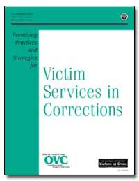 Victim Services in Corrections by Turman, Kathryn M.