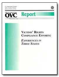 Victims 'Rights Compliance Efforts: Expe... by Robinson, Reginald L.