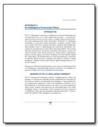 Appendix C : An Intelligence Community P... by