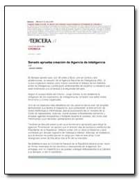 Senado Aprueba Creacion de Agencia de In... by Letelier, Lorena