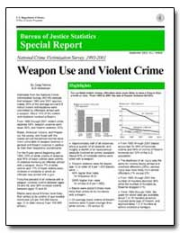 Weapon Use and Violent Crime by Perkins, Craig A.