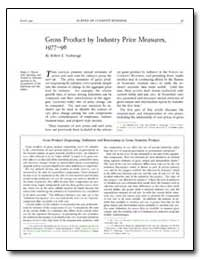 Gross Product by Industry Price Measures... by Yuskavage, Robert E.