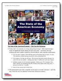 The State of the American Economy by Department of Commerce