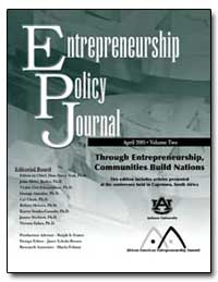 Entrepreneurship Policy Journal by Department of Commerce