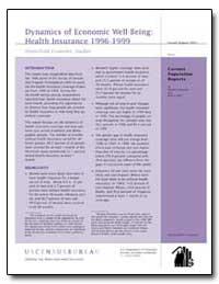 Dynamics of Economic Well-Being : Health... by Bhandari, Shailesh