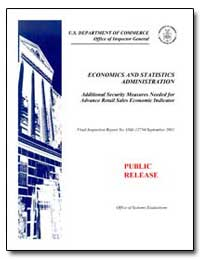 Economics and Statistics Administration ... by Department of Commerce