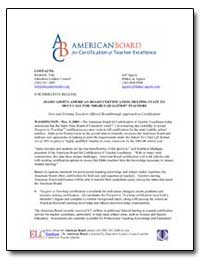 Idaho Adopts American Board Certificatio... by Tulp, Kimberly