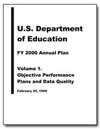 U.S. Department of Education Fy 2000 Ann... by Department of Education