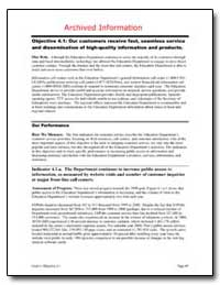 Archived Information Objective 4. 1 : Ou... by Department of Education