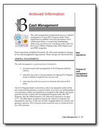 Archived Information Cash Management by Department of Education
