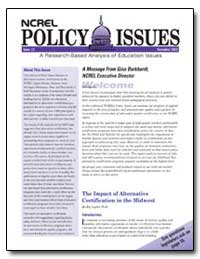 Ncrel Policy Issues Issue 12 November 20... by Legler, Ray