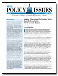 Ncrel Policy Issues Issue 15 January 200... by Dede, Chris