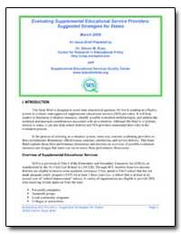 Evaluating Supplemental Educational Serv... by Ross, Steven M.