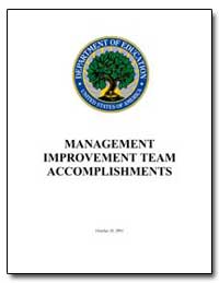 Management Improvement Team Accomplishme... by Department of Education