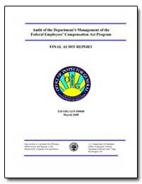 Audit of the Department's Management of ... by Leidinger, William