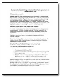 Guidance for Establishing an Indirect Co... by Department of Education