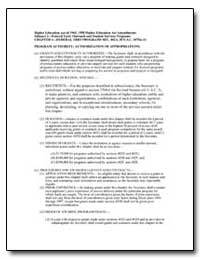 Authorization of Appropriations by Department of Education
