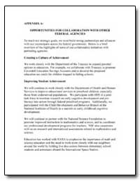 Appendix a : Opportunities for Collabora... by Department of Education