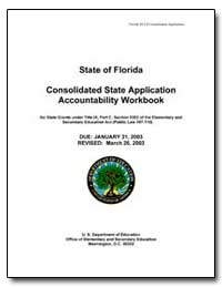 State of Florida Consolidated State Appl... by Department of Education