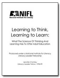Learning to Think, Learning to Learn by Department of Education