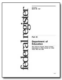 Department of Education [Cfda Nos. : 84.... by Smith, Marshall S.