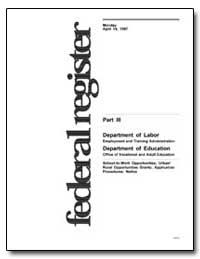 Department of Labor Employment and Train... by Mcneil, Patricia