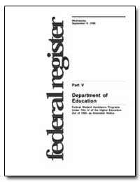 Department of Education Federal Student ... by Longanecker, David A.