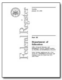 Department of Education [Cfda No. : 84. ... by Heumann, Judith E.