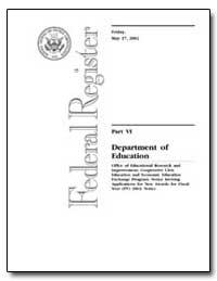 Federal Registry Part VI Department of E... by Whitehurst, Grover J. (Russ)