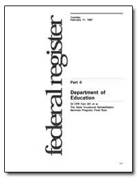 Department of Education 34 Cfr Parts 361... by Riley, Richard W.