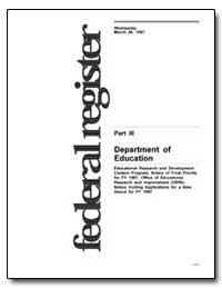 Department of Education Educational Rese... by Smith, Marshall S.