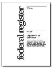 Department of Education National Institu... by Heumann, Judith E.