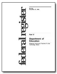 Department of Education Preparing Tomorr... by Fritschler, A. Lee