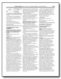 Consumer Product Safety Commission Notif... by Stevenson, Todd A.
