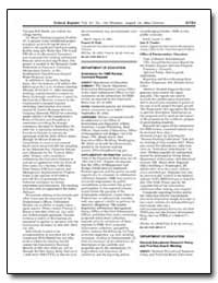 Department of Education Submission for O... by Tressler, John D.