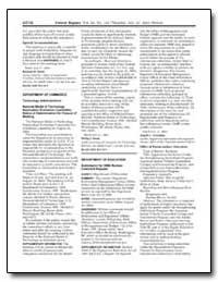 Department of Commerce Technology Admini... by Bond, Phillip J.