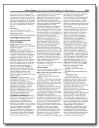 Department of Education Notice of Propos... by Arrington, Angela C