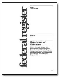 Department of Education 34 Cfr Parts 662... by Longanecker, David A.