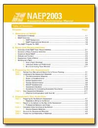 Neap2003 Assessment Administrator Manual by Zilber, Suzanne