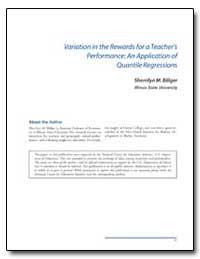 Variation in the Rewards for a Teachers ... by Billger, Sherrilyn M.