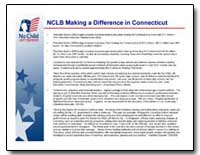 Nclb Making a Difference in Connecticut by Bush, George W.