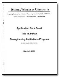 Dakota Wesleyan University Preparing Stu... by Von Eye, Ms. Rochelle