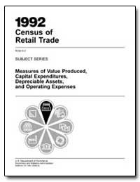 1992 Census of Retail Trade Rc92-S-2 Sub... by Kantor, Michael