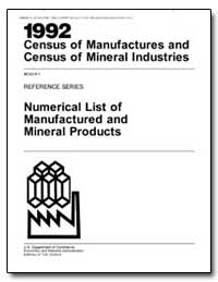 1992 Census of Manufactures and Census o... by Brown, Ronald H.