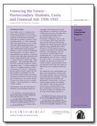 Financing the Future Postsecondary Stude... by Boggess, Scott