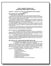 Part Eminority Science and Engineering I... by Department of Education
