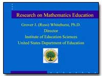 Research on Mathematics Education by Whitehurst, Grover J. (Russ)