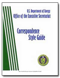 U.S. Department of Energy Executive Secr... by