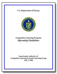 Department of Energy Competitive Sourcin... by