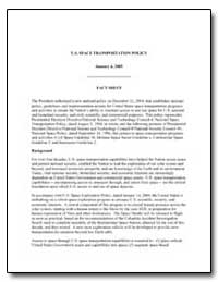 U.S. Space Transportation Policy January... by Federal Aviation Administration